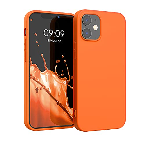 kwmobile Hülle kompatibel mit Apple iPhone 12/12 Pro - Hülle Silikon - Soft Handyhülle - Handy Hülle in Neon Orange