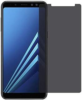 واقي شاشة بحماية زجاجية صلب مقاوم للكسر غامق ( للحفاظ على الخصوصية ) لجوال سامسونج جالكسي Samsung Galaxy A8 PLUS 2018