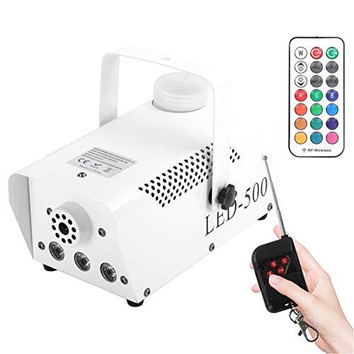 AIBOOSTPRO Nebelmaschine, 500W LED Licht Nebelmaschine mit Funkfernbedienung, tragbare Nebelmaschine, geeignet für Weihnachten, Halloween, Party, Hochzeitsbühne (Weiß)