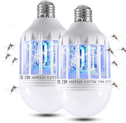 2 Pack Bug Zapper Light Bulbs, 2 in 3 Mosquito Killer Lamp, UV LED Mosquito Killer Bulb for Outdoor and Indoor