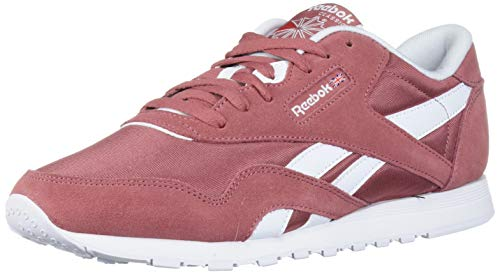 Reebok Women's Classic Nylon Casual Shoes, Rose/White/Rose, 5 M US