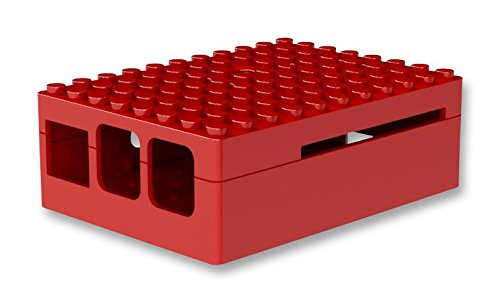 Pi-Blox Case for Raspberry Pi 3 & Raspberry Pi 2 Model B & Pi Camera (Red)