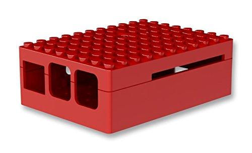 Multicomp Pi-Blox Case for Raspberry Pi 3 & Raspberry Pi 2 Model B & Pi Camera (Red)