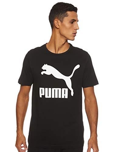 PUMA Classics Logo - Camiseta de algodón para Hombre (Talla S), Color Negro Color Negro. S