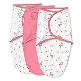 SwaddleMe Original Swaddle – Size Small/Medium, 0-3 Months, 3-Pack (Flamingo Fiesta)