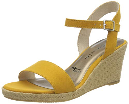 Tamaris Damen 1-1-28300-24 Peeptoe Sandalen, Gelb (Mustard 684), 37 EU