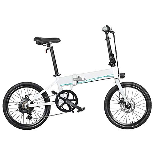 Dušial Folding Bikes for Adults 20 Inches Electric Bike for Men Women 10.4Ah 36V 250W Lightweight Foldable Shock Absorption Damping Bicycle for Students Commute Outdoor Cycling, Max 120kg Payload