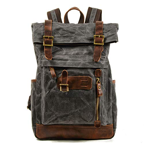 Poulbee Mochila de viaje de 45 l, mochila de senderismo, impermeable, gran capacidad, para portátil de 17,3 pulgadas, mochila de trekking, unisex, para deportes, camping, al aire libre, color negro