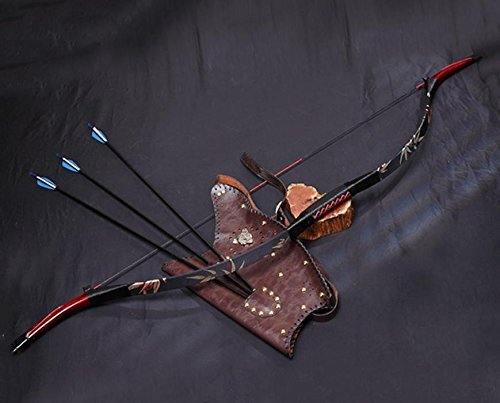 Obert Archery Vintage Recurve Bow Set Longbow Horsebow Quiver Target Hunting Arrows Quiver