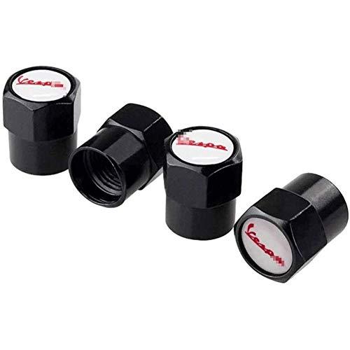 jooe 4pcs Tapas para válvulas Tapones de válvula de neumático de automóvil, Ruedas Cubierta de Polvo Tapas de Aire de vástago de neumático Cubiertas herméticas, para Vespa Piaggio PX 125 LX 50 180ss