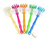 matrasa Spülbürste Tassenbürste - perfekt für Thermomix ® TM6 TM5 TM31 & TM21 - mit Nylonborsten (5er Pack (je Farbe 1x) zum Sparpreis)