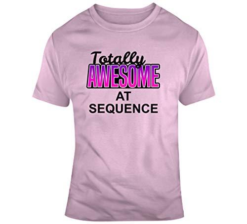 IDEAWIN Totally Awesome at Sequence Cooles Brettspiel-Geschenk, T-Shirt, Hellrosa Gr. 56, braun