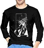 メンズ Tシャツ 無地 やわらかい カジュアル ファッション 丸襟 スポーツ Black 長袖 RWBY Tシャツ 無地 やわらかい カジュアル ファッション 丸襟 スポーツ S 快適 アンダーシャツ
