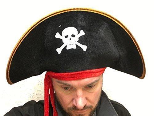 Rubber Johnnies TM Adulte Homme Femme Chapeau de Pirate déguisement
