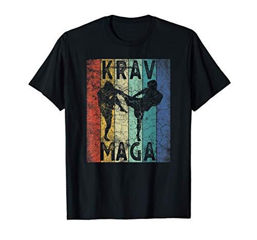 Vintage Krav Maga Retro MMA Training Martial Arts Men Women Camiseta