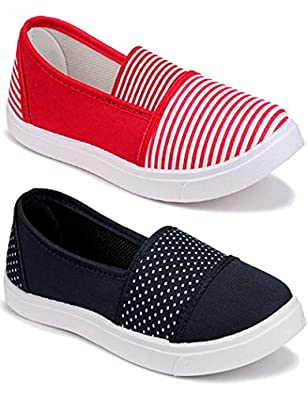 Shoefly Women Multicolour Latest Collection Sneakers Shoes- Pack of 2 (Combo-(2)-11021-11032)