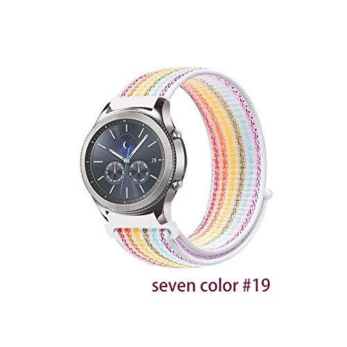 Frontier-Bügel für Samsung für Galaxie-Uhr 46mm 42mm Active 2 Nylon 22mm Uhrenarmband für Huawei Uhrenarmband, Sieben Farben 19,20mm
