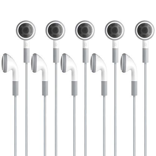 Fosmon (3-Pack) 3,5 mm koptelefoon met microfoon voor Samsung Galaxy Note 8, Apple iPhone 6s / 6s Plus, iPad Mini 3/2 / 1, iPad Air 2/1,Apple iPad 10.2 inch, iPod 5G / 4G / 3G, LG V30 - Wit (3-Pack)