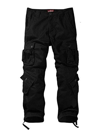 Match Pantalon Cargo Sauvage pour Homme 32 Noir