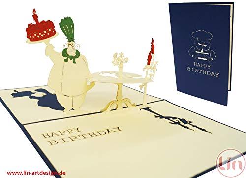 LIN-POP UP Grußkarten zum Geburtstag für Genußliebhaber, Geburtstagskarten Glückwunschkarten Grußkarten Geburtstag