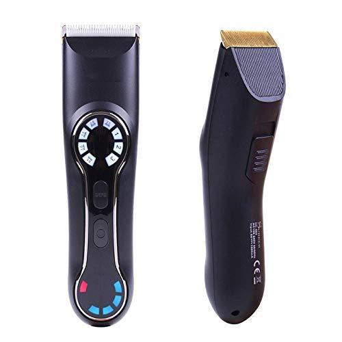 Digitales LCD-Display Keramikmesser Haarschneider Elektro Fader Stummschaltung Elektroschneider Schnellladung
