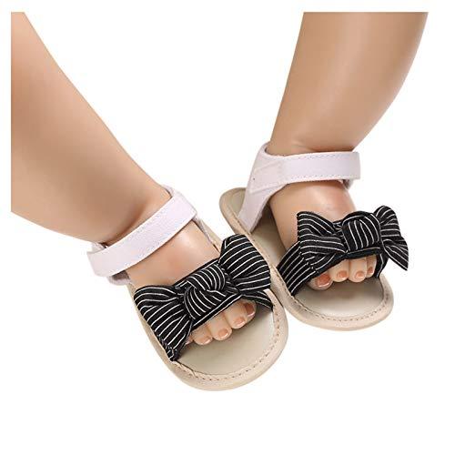 YWLINK Sandalias con Lazo A Rayas para NiñOs Y NiñAs, Suela Blanda, Suela De Goma Antideslizante, Zapatos Planos De Verano para Caminar Casuales Sandalias De Cabeza De Zapato De Playa