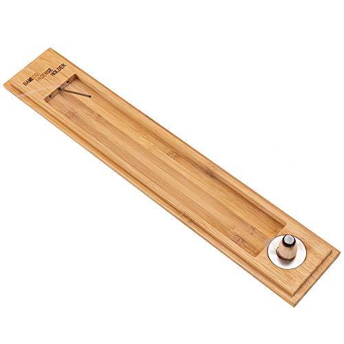DUJEN Bamboo Incense Burner Holder with Three Holes for Sticks, Upgraded Wood Incense Sticks Holder...