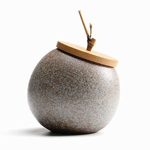 liangh Urne Tierurnen Bestattung,Erwachsene Aus Menschlicher Asche,Handgefertigt Keramik - Urne Der Gräber - Zu Hause,11×11×10cm,A