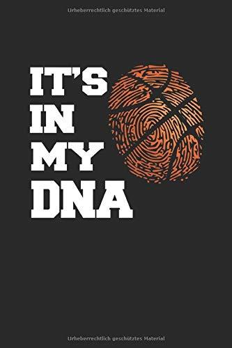 Basketball Meine DNA: Notizbuch Planer Tagebuch Schreibheft Notizblock - Geschenk für Basketballfans und Basketball Spieler & Trainer (15,2 x 22.9 cm, 6
