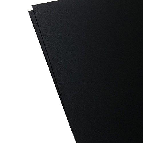 Plastics 2000 - KYDEX Sheet - 0.060 Thick, Black, 12 x 12, 2 Pack