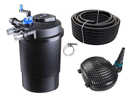 AquaOne Teich Filteranlage Set Nr.24 CPF 30000 Druckfilter 38W Eco Teichpumpe Teichgröße bis 60000l Teichschlauch Bachlauf UV Lampe