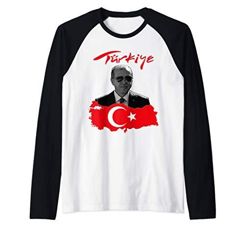 Recep Tayyip Erdogan Türkiye Flagge Geschenkidee Raglan