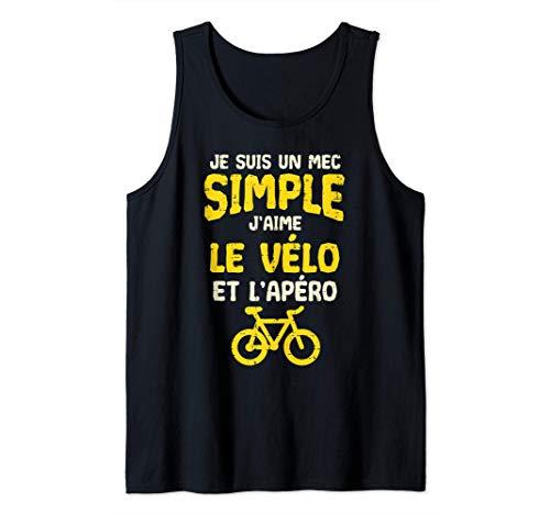 Homme Je Suis Un Mec Simple Vélo Apéro Humour Bike Homme Cadeau Débardeur