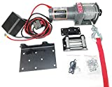CASTOOL Electric Winch 12 Volt Recovery ATV/UTV Winch Kits Wire Remote Control(Cable 3000LBS Capacity)