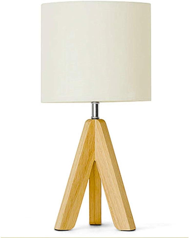 Skingk Einfache moderne japanische Holztischlampe Schlafzimmerbett LED nordisches Leinen Nachttischlampe Tischlampe E27 Wohnzimmer Schlafzimmer Arbeitszimmer Esszimmer Schreibtischlampe Schreibtischla