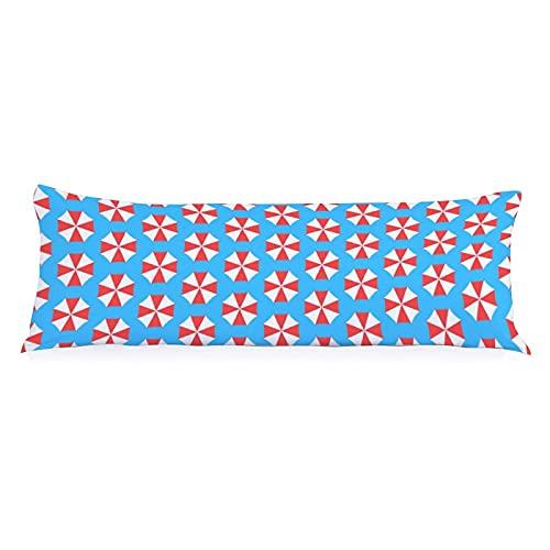 Verano sin costuras patrón con paraguas moda almohada cuerpo fundas de cojín para el hotel hogar decorativo cuerpo almohada cubierta 50x135 cm