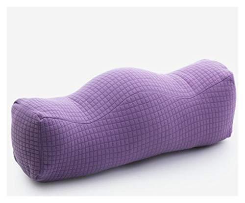 HLRY En Forma de Colina Puro Rodilla de algodón PP Almohada Confort for el Alivio del Dolor de la Pierna ciática Cadera y Dolor de Las articulaciones de la Mujer Embarazada Cojín (Color : Purple)
