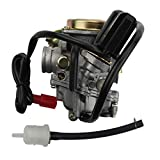 WOOSTAR PD18 Carburetor 18mm Replacement for 4 Stroke GY6 Roketa Sunny Kymco 49cc 50cc Chinese Scooter 139QMB Engine TaoTao 150cc ATV