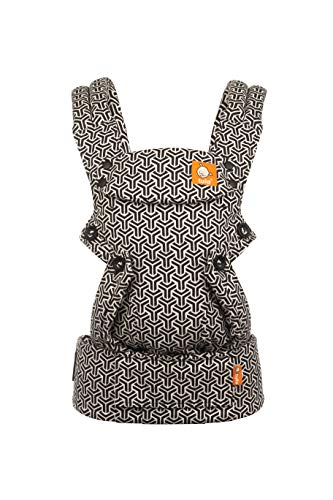 Baby Tula Explore Baby Carrier 7-45 lb, Adjustable Newborn to Toddler Carrier, Multiple Ergonomic Positions, Front and Back Carry, Easy-to-Use, Lightweight - Forever, Black/White Geometric Print