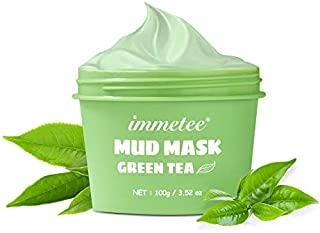 IMMETEE Matcha Green Tea Facial Detox Mud Mask with Green Tea, Deep Cleaning, Hydrating, Detoxing, Healing, and Relaxing V...