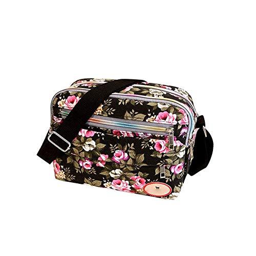 MICHAELA BLAKE Frauen-Schulter-Beutel-Blumendruck Beiläufige Reise Purse Cosmetic Bag Umhängetasche