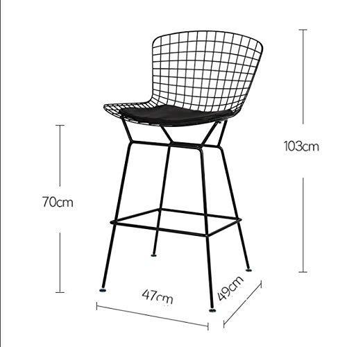 MJY Personalidad Wire Bar Chair Cafe Restaurant Taburete alto Creative Bertoia Chair, 47 * 49 * 103Cm, tres colores Opcional Bar Chair,Blanco,