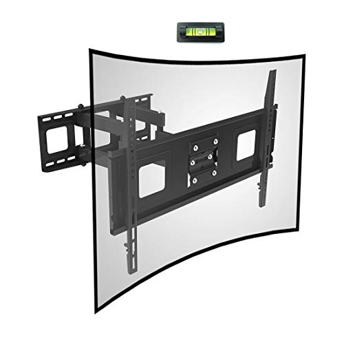 Fleximounts Curved Flat TV Wall Mount TV Bracket for 32-65 inch up to 132lbs VESA 600x400mm with...
