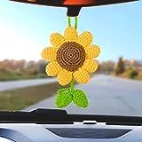 Natchia Rear View Mirror Accessories, Sunflower Car Decor, Car Mirror Hanging Accessories, Sunflower Car Accessories, Car Decorations for Women, Cute Car Accessories, Rearview Mirror Accessories