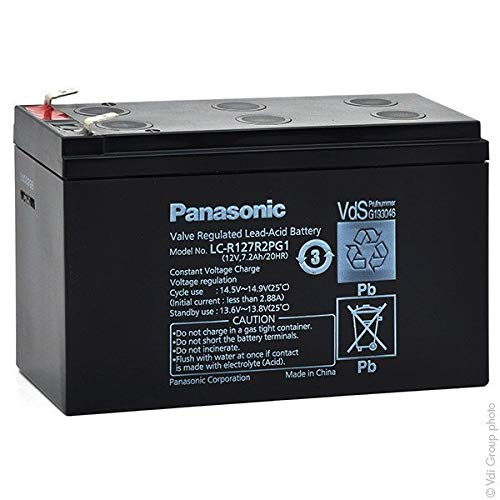 Panasonic - Akku AGM PANASONIC LC-R127R2PG1 12V 7.2Ah F6.35