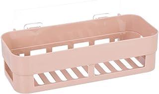 Prettyia Bathroom Shelf Shower Shampoo Holder Kitchen Storage Rack Organizer - Khaki, 25.8 x 11.8 x 7 cm