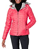 Spyder Women's Edyn Hoody Synthetic Down Jacket, Hibiscus/Hibiscus, Small