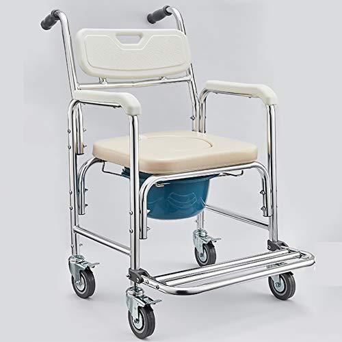 XER Alten Toilette Stuhl WC-Stützhilfe Punch-frei Haushalt Alten Handy, Mobiltelefon Toilette mit Räder Faltbare tragbar Bad Stuhl Armlehne