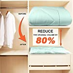 SUOCO Vacuum Storage Bags 8 Pack (Large), Space Saver Compression Bags with Travel Hand Pump