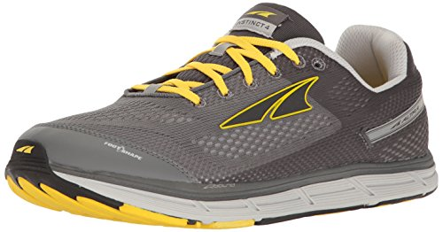ALTRA Men's Instinct 4 Running Shoe, Gray/Yellow, 8.5 M US
